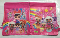 Wholesale cheap kids toys for sale - Cheap Cartoon storage bags Birthday Party Favor for Girls LOL doll Gift Bag drawstring backpack kids toys receive package Swimming beach bag