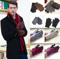 Wholesale warm gloves for women pink for sale - Group buy 13 Styles Winter Plus velvet Warm Touchscreen Gloves Knit Wool Lined Texting for Women Men Christmas Gift Support FBA Drop Shipping H917Q
