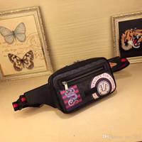 Wholesale waist bag patterns resale online - Hot Designers Patterns Waist Bags Women Pack Bags Bum Bag Belt Bag Men Women Money Phone Handy Waist Purse W24xH14xD5cm Leathers Bag