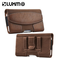 Wholesale Suede Pouches - Leather Holster Luxury Waist Wallet Leather Suede Magnetic Case for iPhone X 8 Plus Samsung Galaxy S9 with Pouch Card Slot Phone Cover