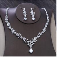 ingrosso collana di diamanti nuziali di nozze-Nuovi accessori nuziali di stile coreano, accessori di abito da sposa della collana di nozze, insiemi di catena del trapano del diamante di nozze nuziali.