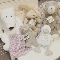 ingrosso cuscini svegli dell'orso-Baby Soothing Plush Doll Toys Festival Compleanno Regalo carino farcito a strisce Animali morbidi Anatra Coniglio Orso polare Grizzly Ragazzi Ragazze Cuscino