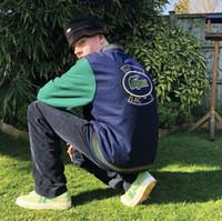 chaquetas varsity para al por mayor-18FW SP-LAC Lana Varsity Jacket Baseball Jacket Hombres Mujeres Pareja Soprts Prendas de abrigo Moda Hip Hop Chaqueta de calidad superior HFWPJK100