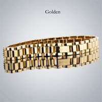 Wholesale gold ring bracelet chain online - Famous R Brand men s bracelets With high quality Stainless Steel Iced out bracelet Luxury designer bracciali for women Drop Shipping