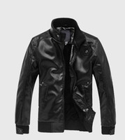 Wholesale cool motorcycles resale online - Cool Autumn Men Leather Jacket Fashion PU Male White Black Leather Motorcycle Slim Fit Jacket Coats Male Clothing Coat M XL for Men