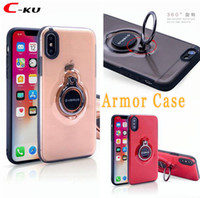 Wholesale verus samsung for sale – best Verus Car Mount Magnetic Suction Brush TPU PC Case For Iphone X S S SE Samsung Galaxy S9 Plus NOTE8 Ring Grip Stand Skin Cover