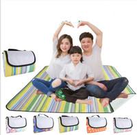 Wholesale travel mattress baby resale online - Beach Blanket Mat Towel Handy Mat with Strap Waterproof Beach Blanket Baby Picnic Outdoor Blanket Camping Mat Sandless
