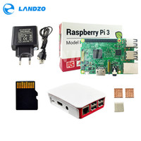 Wholesale Power Supply 16 - H Raspberry Pi 3 Model B starter kit-pi 3 board   pi 3 case   European power supply 16 G memory card  heat sink