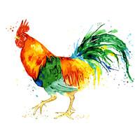 moderne abstrakte acrylmalerei großhandel-Rahmenlose Bunte Cock Diy Malen Nach Zahlen Acrylfarbe Abstrakte Moderne Wandkunst Leinwand Malerei Für Wohnkultur Handgemacht-16X20 zoll