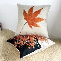 ingrosso acero cuscino foglia-Cuscino Maple Leaf stile canadese Cotone Lino federa Divano camera da letto decorativa Home Cuscino tiro Cuscino New Degin