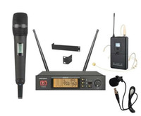 Wholesale microphone collar - Professional Wireless Microphone System TS210 Wireless Mic Microfoon True diversity microfone for stage Mics Handheld + collar microphone