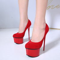 c3db7567440 16cm Sexy platform high heels women designer shoes pumps red wedding shoes  party club wear size 34 to 40