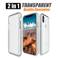 Wholesale bumper case cellphone - For samsung galaxy s9 plus A8 lg v30 Transparent Hybrid Bumper Anti scratch Cover phone cases For iphone x Clear cellphone case