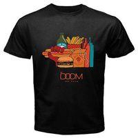 ingrosso tè diverso-MF Doom Mm Logo alimentare Rap Hip Hop Tee Tshirt T-Shirt da uomo Nero Taglia S a 3XL Diversi colori di alta qualità