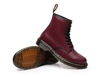 working animals 2018 - Men Women Leather Martin Boots Women Vintage Retro Warmer Hiking Sports Shoes Women Flat-Bottomed Casual Martin Boots US5-11