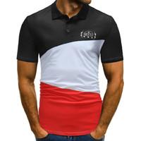 Wholesale color collage - Mens Shirt Brands 2018 Male Short Sleeve Casual Classic Color Collage Slim Classical Stripe s Men M-XXXL