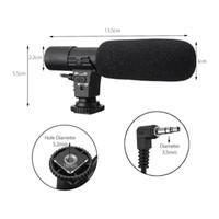 micrófono externo al por mayor-HOT-3.5mm Micrófono estéreo externo Mic para la cámara