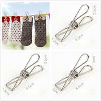 Multifunction Spring Clothes Clips Stainless Steel Pegs For Socks Photos Hang Rack Parts Portable Bathroom Hangers Accessories