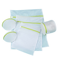 Wholesale mesh laundry bags - set of 6 laundry wash bag underwear bra mesh laundry bags with zipper thicken washing bag protector for wahing machine