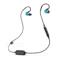 kulaklık kulaklık perakende paketi toptan satış-Shure SE215-BT1 Kablosuz Kulaklıklar HIFI Kulaklık Iptal Kulak Gürültü Bluetooth Spor Kulaklık Perakende Paketi Ile Hareketli-bobin Kulakiçi
