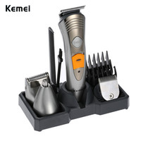 ingrosso macchina del naso-Kemei 7 in 1 rasoi elettrici rasoio naso capelli trimmer uomini rasatura macchina ricaricabile tagliacapelli afeitadora KM-580a