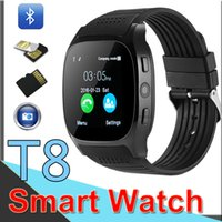 Wholesale T8 Bluetooth Smart Pedometer Watches Support SIM TF Card With Camera Sync Call Message Men Women Smartwatch iphone9 For Android XCTT8