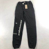 nuevos pantalones de moda de mujer al por mayor-Nueva temporada 5 pantalones deportivos mujer hombre moda bordado Calabasas con cordón Joggers pantalones deportivos Kanye West temporada 5 pantalones