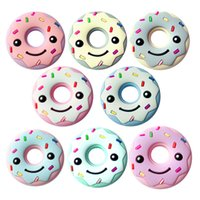 Wholesale Newborn Baby Food - Silicone Food Grade Teething Toys For Baby Smile Doughnut Design Teethes Toys Diy Newborn Teether Training Accessories New Arrive 8jhb Z
