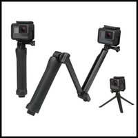 Wholesale session camera - SHOOT Waterproof Way Grip Monopod For Gopro Hero Session SJ4000 Xiaomi Yi K Camera Go Pro Selfie Stick with Tripod Kits