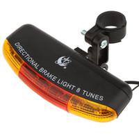 fren lambası bisiklet bisiklet led toptan satış-Akıllı LED Bisiklet Arka Işık / LED Bisiklet Işık Bisikleti Arka Kablosuz Fren Uyarı Fren Sürümü