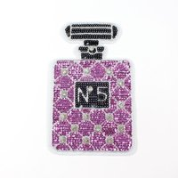 Wholesale Sew Applique Beads - Perfume bottle sequin bead embroidery patch sew on backing applique accessories