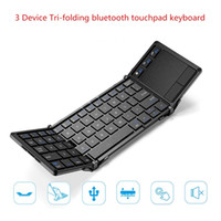 Wholesale Tablet Pc Stand Portable Foldable - Bluetooth Wireless Foldable touchpad Keyboard With stand Portable Universal Keyboards For ipad PC tablet phone7 8 X