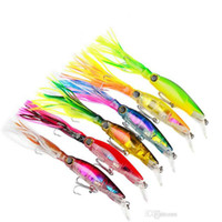 Wholesale squid minnow lures online - New Arrival Sleeve Fish Fishing Tackle cm g octopus Squid Lure Hard Plastic Fishing Lure Trolling Bionic isca Artificial Minnow BAIT DHL