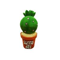frigoríficos verdes al por mayor-Creativo suculentas planta forma imán de nevera lindo simular verde cactus decorativa refrigerador recuerdo etiqueta
