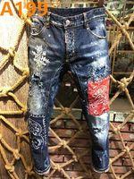 klassische italienische mode großhandel-Italienische Marke Männer Jeans 2019 neue Mode hohe Qualität Herren Designer klassische Jeans Luxus Markenhosen Herrenmode Jeans # 6806