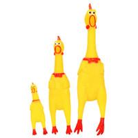 yetişkinler için en iyi oyuncaklar toptan satış-Bebek Oyuncakları Çığlık Kauçuk Horoz Tavuk Komik Kargalar Squeak Oyuncaklar Çocuk Yetişkin Için En Iyi Hediye Çekmek