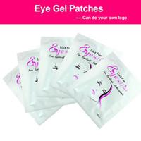 parche ocular de extensión al por mayor-30 par / set almohadillas de pestañas parche de gel debajo de almohadillas para ojos pestañas sin extensiones extensión máscara maquillaje