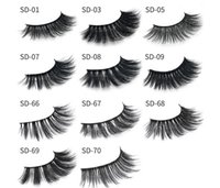 Wholesale Black Feather Eyelashes - 11 styles Selling 1pair lot 100% Real Siberian 3D Mink Full Strip False Eyelash Long Individual Eyelashes Mink Lashes Extension