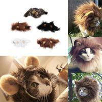 Hot Sale Pet Cat Dog Dress Up Costume Wig Emulation Lion Hair Mane Ears Head Cap Autumn Winter Muffler Scarf Pet Products