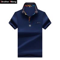 Wholesale hit clothing for sale - 2017 New Designer Men S Polo Shirt Fashion Hit Color Lattice Collar Casual Pure Color Paul Shirt Brand Polo Shirt Men S Clothing