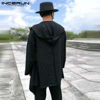 acd9f2efe8 Chinese Style Mens New Hoodie Cloak Autumn Outwear Long Sleeve Casual Jacket  Cape Coat Cardigan Men Clothes INCERUN Coat Hombre