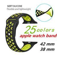 silver bracelet band 2018 - Sport Silicone strap for Apple watch band 42mm 38mm bracelet wrist belt Rubber Smart watchband for smart watch iwatch