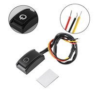 Wholesale latching push button - 1 Pcs Car DIY Switch Paste Type Button Switch OFF ON DC 12V 200mA Car Push Button Latching Switch