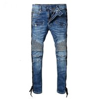 Wholesale underwear boy hot - HOT Sale New 2018 Spring And Autumn New Men's balmain Jeans Nine Trousers Street Style Teen Trendy Casual Underwear Boys Fashion Slim pants