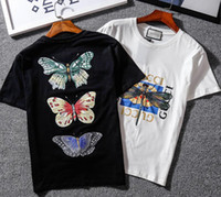 Wholesale Flowers Free Delivery - 2018 SHARK High quality embroidery Flower T-shirts, pink men and women cotton short sleeved ,gosha rubchinskiy kanye west Free Delivery