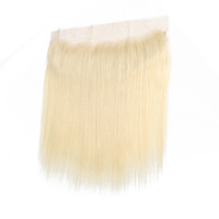 """Wholesale side parting brazilian hair closure - 8A Brazilian Straight 613 Lace Frontal with Baby Hair 13x4"""" Ear to Ear Blonde Frontal Closure Straight Human Hair"""