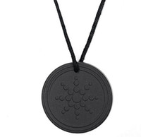 Wholesale scalar energy pendant for sale - Quantum Pendant Necklace Scalar Energy Pendant with Negative Ion Energy Natural Stone Pendant Black Lava Stone Jewelry Negative