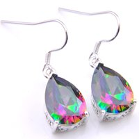 11315f6b4 Wholesale rainbow topaz earrings for sale - LuckyShine Pairs Thanksgiving  Gift Water Drop Fire Rainbow Mystic