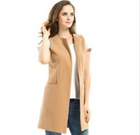 kore palto satışı toptan satış-Ücretsiz kargo sıcak satış Kadınlar moda yelek 2019 moda Kore palto bayanlar artı boyutları ince uzun kolsuz bluz Yelekler ceket kadınlar