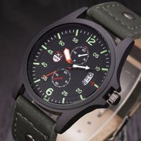 Wholesale xinew watches online - XINEW Brand Military Leather Waterproof Date Quartz Analog Army Men s Quartz Wrist Watches Sports Watches relogio masculino
